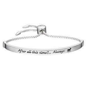 "Harry Potter ""Always"" Silver Plated Bracelet"